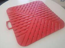 Tappetino per doccia Morbidoso rosso gommoso antiscivolo cm 58x58x1,5