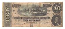 T-68 PF-3 CR-541 1864 Confederate States of America Ten Dollar Note No.9526