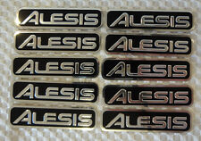20 METAL ALESIS LOGO TAGS / STICKERS / NAME PLATES - ELECTRONIC DRUM LABELS