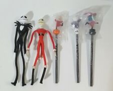 Nightmare Before Christmas Jack Bendable bendy Figure & Pencil Topper 1993 lot 5