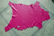 Fuchsia leather goat hide goatskin 8.1 sq. ft. for bookbinding & other crafts G1