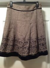 Ann Taylor LOFT Petite Pleated Sequin Lined Skirt Size 2P