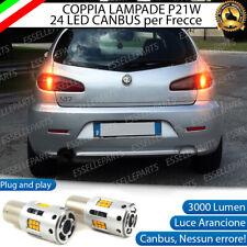 COPPIA LAMPADE P21W LED ALFA ROMEO 147 CANBUS 3.0 24 LED FRECCE POSTERIORI