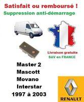Kit démarrage boitier réparation antidémarrage Renault Master 2 phase 1