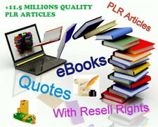 Mega Pack 11,5 Millions Plr Articles + eBooks, Quotes, etc All Resell Rights!