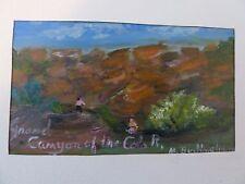Original Folk Art Oil Painting of the Grand Canyon - Martha Burlingham