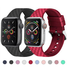 For Apple Watch Series 5 4 3 2 1 Sports Silicone Wrist Strap Band 38/42/40/44mm