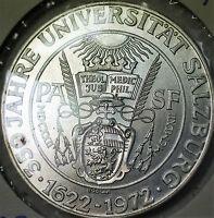 1972 Austria 50 Schillings Salzburg Commem Brilliant Uncirculated Silver Coin