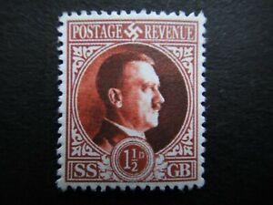 Germany Nazi 1941 Stamp MNG Parody SS GB Hitler WW2 Third Reich German