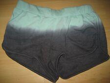 Womens S Small WET SEAL Mint Green Gray Sweat Short Shorts Tie Dye