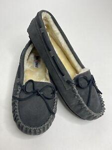 Women's Minnetonka 4015 Leather Sherpa Lined Slippers •Size 10M *NEW