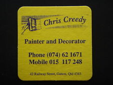 CHRIS CREEDY PAINTER AND DECORATOR 42 RAILWAY ST GATTON 074 621671 COASTER