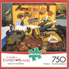 Cats of Charles Wysocki Mabel the Stowaway 750 piece puzzle 24 x 18 Buffalo 2014