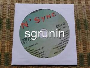N'SYNC KARAOKE CDG CD+G SUPERSTAR SKG944 1990'S TEEN POP NEW CELEBRITY