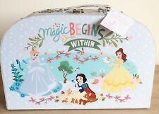 Disney True Princess Blue Magic Begins Canvas Carry Case-Birthday/Christmas Gift