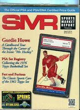 New listing APRIL 2014 GORDIE HOWE COVER SMR PSA SPORTS MARKET REPORT PRICE GUIDE  MINT