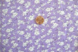 "Vintage Feed Sack Fabric Purple White Flower 36"" x 40"""