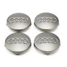 Juego de 4 tapabujes Audi, 60mm, Tapacubos, Centro de Rueda., Tapa llantas