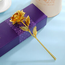 Goldene Gold Rose mit 24K Gold vergoldet Muttertag Geburtstag Geschenk Box