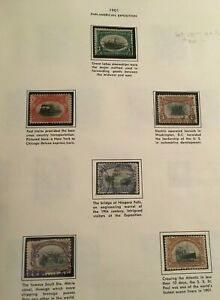 US Stamp Scott # 294-299 Pan-American Exposition Issue 1901