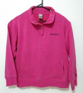 New Balance Womens Jacket Size L Pink Long Sleeve Quarter Zip Active Running