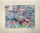 Raoul Dufy, Outdoor Hippodrome, Lithography 40X32, 1983