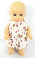"""Vintage Lauer Toys Water Baby Doll Blonde Hair gray Eyes 1995 Rubber Baby 8"""""""