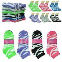 New 6 Pairs For Women Girls Fashion Cotton Casual Low Cut Socks Size 9-11 Zebra