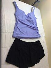 Miraclesuit Women's PLUS Size 16 Tankini Swim Top & Gottex Skirt Size 16