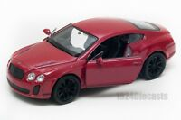 Bentley Continental Supersport red, Welly scale 1:34-39, model toy car gift