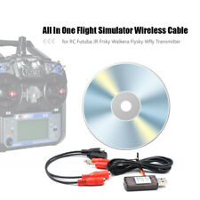 All In One RC Flight Simulator Cable f/Futuba JR Frsky Wfly RC Transmitter X2S1