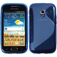 Silikon Hülle für Samsung Galaxy Ace 2 blau S-Style