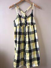 Matalan Ladies Top Yellow/Black Check Size Small<NH2389