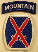 US Army 10th Mountain Division Full Color Patch With Tab