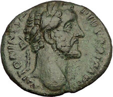Antoninus Pius Marcus Aurelius Father Big Ancient Roman Coin Forethought i53942