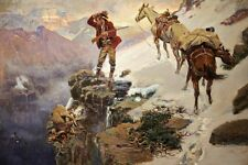 Meat's Not Meat 'Til It's In The Pan Charles Russell Western Cowboy 36x24 Canvas