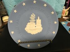 "Wedgewood Jasperware ""Boston Tea Party"" Plate-cbon"