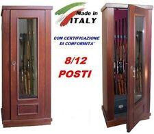 Armadietto contenitore blindato box legno vetro porta fucili  8/12 posti caccia