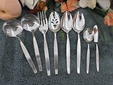 Oneida 18/8 USA Community Stainless FROSTFIRE 28pcs Serving Cocktails Excellent