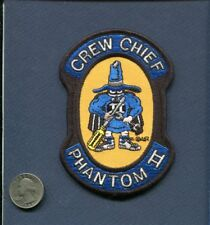 F-4 PHANTOM CREW CHIEF USAF FS TFS McDonnell Fighter Squadron Maintenance Patch