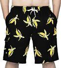 Rejork Men's Swim Trunks Board Shorts with Mesh Lining Pockets Long Swimwear Bat
