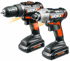 WX916L WORX 20V (2) Piece Li-Ion Combo Kit with Drill and Impact Driver