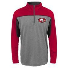 San Francisco 49ers NFL Boys' Quarter-Zip Performance Shirt Medium 10/12 - NWT