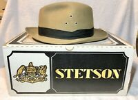 Worth & Worth, Royal Stetson, Safari Collection Brown Fedora Hat Size 57 (7 1/8)