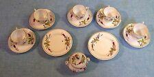 Vintage Miniature Ceramic Teacups, Saucers, Bowls