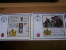ANGOLA,1999 QUEEN MOTHER,SET OF 2 COVERS,5TH ANNIV OF 100TH BIRTHDAY,EXCELLENT.
