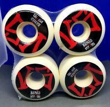 Powell Bones V5 Stf Skateboard Wheels white wheels 55mm in shrink 55 mm 103a