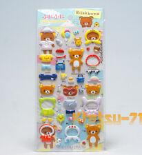 San-X Rilakkuma Fluffy Stickers Funi Funi Seal Collection 3D type 34502