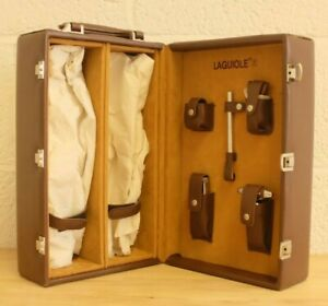 Laguiole Wine Carry Case With Accessories Brown Leather (Hospiscare)