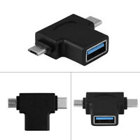 Mini 2 In 1 USB Adapter Type C Male to Micro USB 3.0 Converter OTG Connector TOG